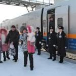 Новый скоростной поезд «Астана-Защита»