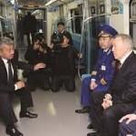 Назарбаев  осмотрел станции метрополитена «Сайран» и «Москва»